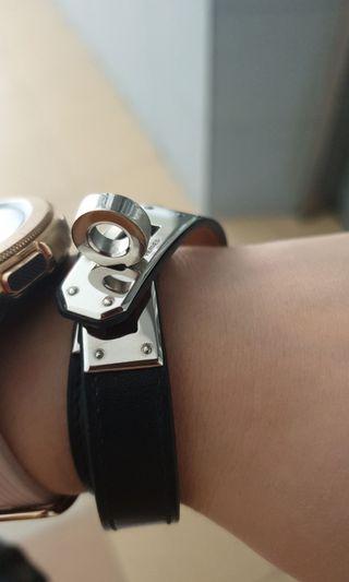 b435ed421306 Hermes kelly double tour bracelet