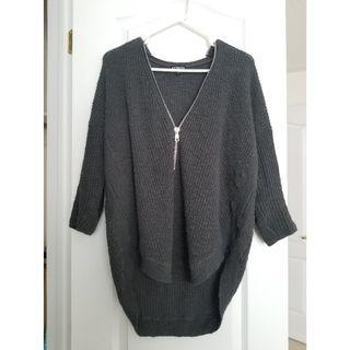Grey Zip Sweater