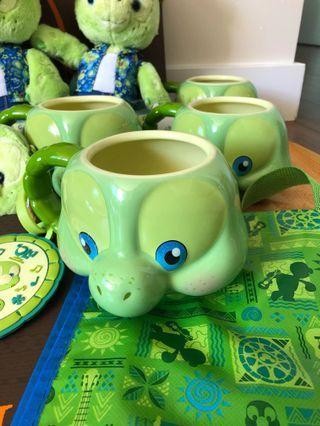 《美國夏威夷迪士尼限定代購》Disney Duffy friend Olu小海龜大頭杯mug