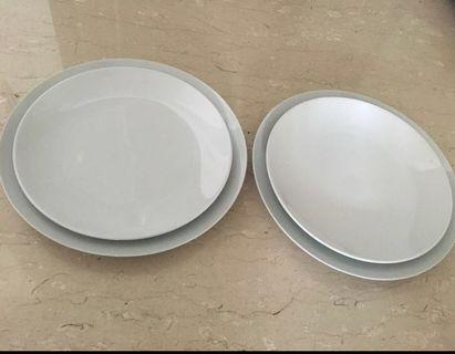 Plates large $6/all