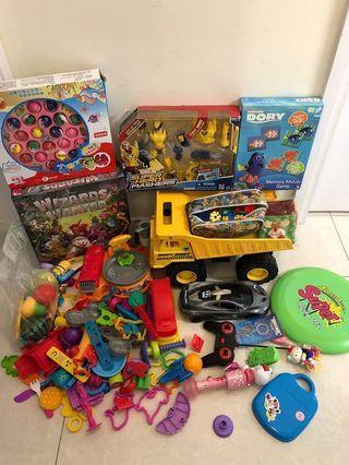玩具 機械人 砌圖 泥膠 遙控車 積木 Marel 全部$200