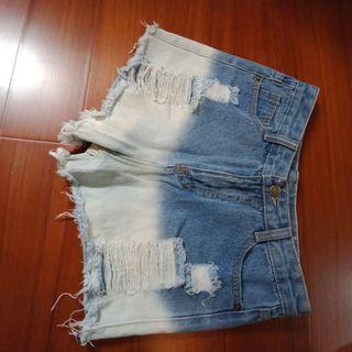 🚚 漸層牛仔短褲