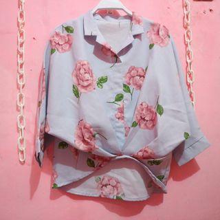 Flower batwing shirt