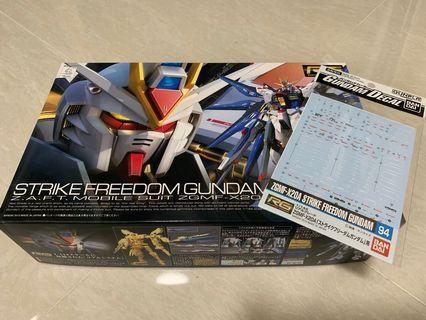 RG Strike Freedom Gundam with waterslide decal