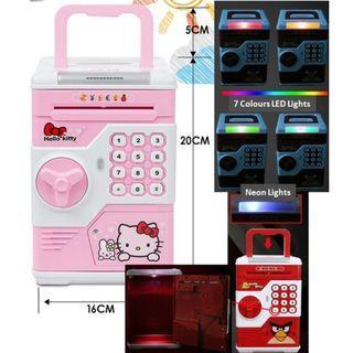 Pokemon Pikachu , Hello Kitty Electronic Piggy Electronic Bank Auto Note Feeder (Free doorstep delivery)