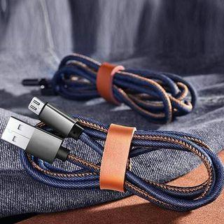 Fast Charging&Durable - Denim Braided USB Charger