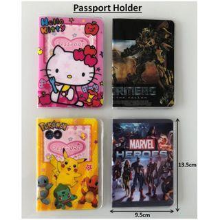 Cartoon Passport Holder Cover Hello Kitty Transformer Bumble Bee Optimus Prime Pokemon Pikachu Marvel Avenger