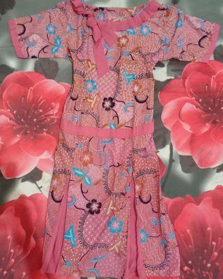 Dress Batik Pink New (jahit)