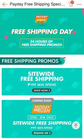 FREE SHIPPING TODAY MIN SPEND 199PHP