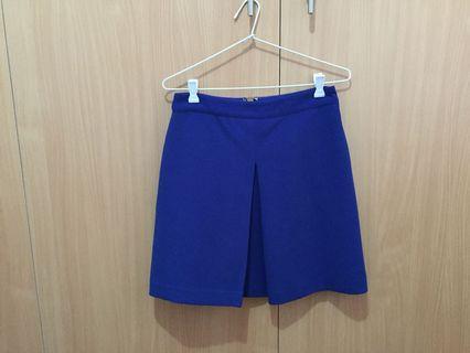 Warehouse Blue Mini Skirt