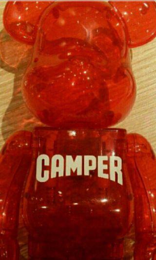 二手冇盒 CAMPER 非賣品 透明紅 Bearbrick 400% BE@RBRICK