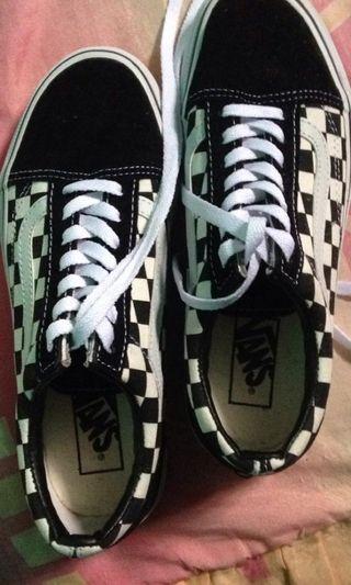 sepatu vans checkerboard wanita