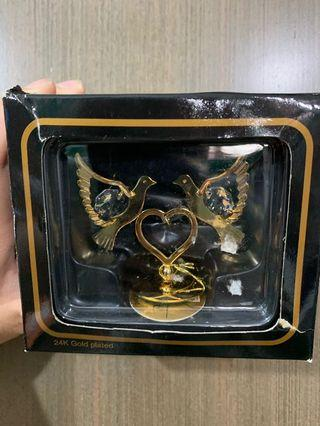 Swarovski 24k渡金水晶飾品