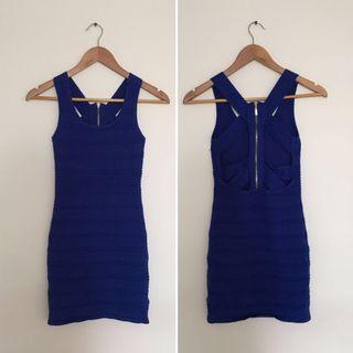 blue mini bodycon dress #swapCA