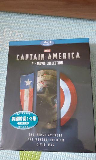 Captain America 1至3集 box set
