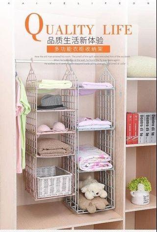 預購-懸掛式多層衣櫃收納架 組合式收納架