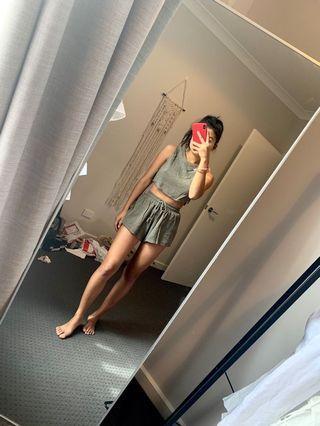 Sabo skirt green set