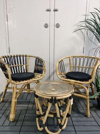 🚚 Colonial Vintage Rattan Chairs