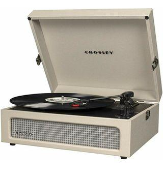 Crosley Voyager Vintage Portable Turntable with Bluetooth Receiver & Built-in Speaker