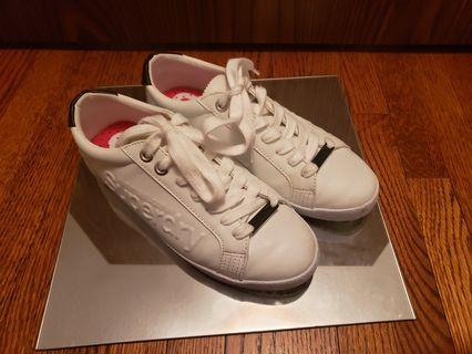 Superdry white sneakers women's size 8