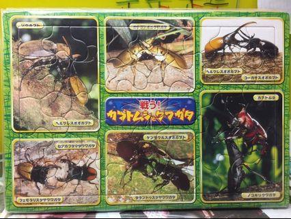 🚚 日本進口昆蟲拼圖-38片
