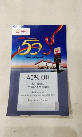 40% OFF voucher for Philips products (SPC)  #EndgameYourExcess