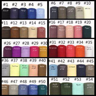 🚚 Instock Arabic fringe Shawl 50 Colours < FREE MAILING >