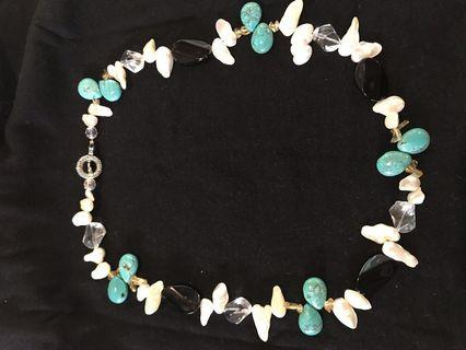 SALE!! Turquoise Pearl Necklace