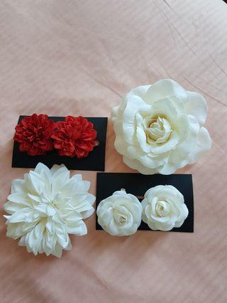 🚚 Flower hairclips (all for $10)