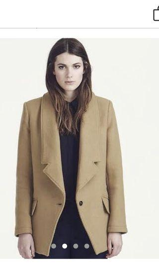 Parka London tan camel brown jacket blazer coat 8