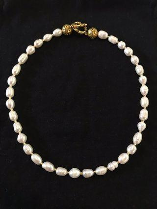 SALE!! Gold and Pearl Necklace