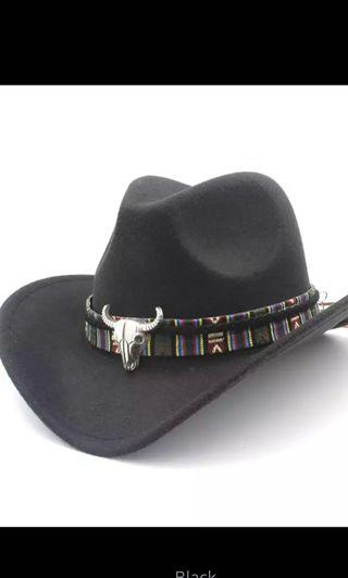 Men Women Cowboy Hat Retro