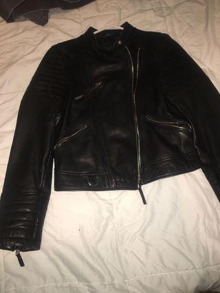 Black leather jacket from Zara