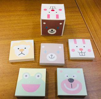 🚚 Memo 📝 pad! Very cute & unique! All Packed in a small box! Made in Korea !
