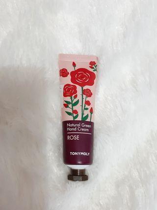 NEW Tonymoly Natural Green Hand Cream Rose