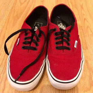 (8/8.5) Red Authentic Vans