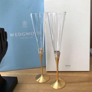 🚚 全新wedgwood X Vera Wang 高腳杯香檳杯組