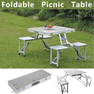 New unused foldable picnic table with 4 chairs
