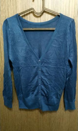 全新棉質藍綠色薄外套