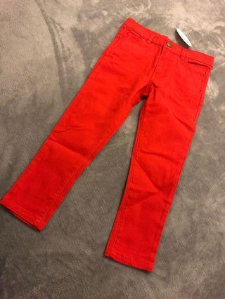 BRAND NEW Girls 3-8 Red Jeans