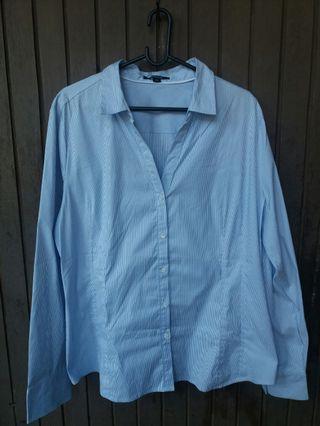 Blue Stripes Shirt for Women