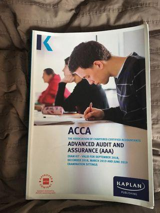 ACCA Advanced audit and Assurance AAA Exam kit