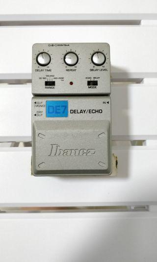 Ibanez de-7 delay echo guitar pedal