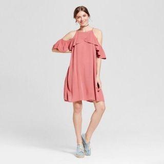 Mossimo Old Rose Cold Shoulder Dress