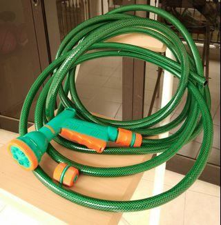 Garden car wash plants hose water tube Multi head jet mist shower spray with connectors
