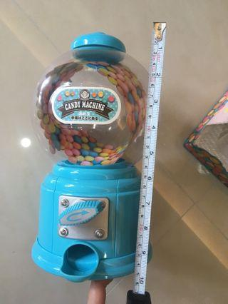 Gum ball machine ( can be used at parties, used for storing nuts/ pet feed) 10 inches tall