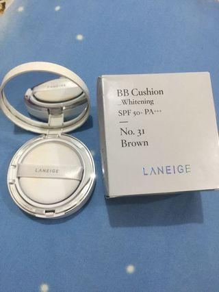 Laneige BB Cushion whitening shade 31 brown