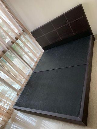 Queen Size Bed Frame & Mattress Set
