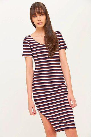 VALLEY GIRL STRIPED BODY CON DRESS SIZE SMALL BNWT