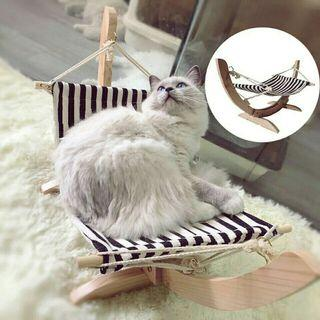[Pre-Order] Summer Cozy Swing Cat Bed Assembled Wooden Cat House Pet Hanging Hammock Lounger Bed